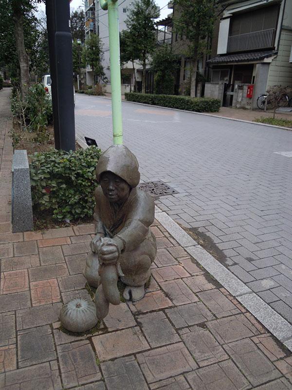 二七の市の銅像