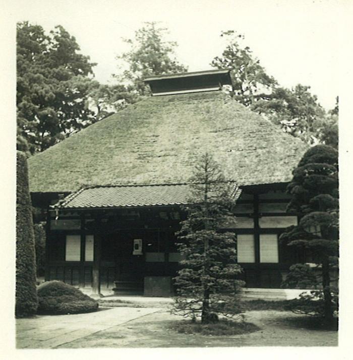 茅葺き屋根時代の蓮昌寺本堂